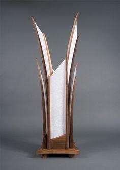The Sydney Table Lamp Hand Carved Walnut U0026 Shoji By Castlewerks, $1385.00