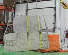Stainless steel square rope mesh is used to lift stones.