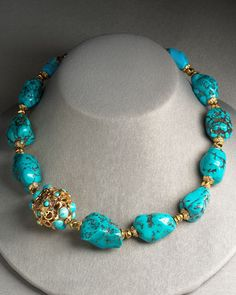 JOSE AND MARIA BARRERA JEWELRY BERGDORF GOODMAN | Jose & Maria Barrera Turquoise Necklace - Bergdorf Goodman