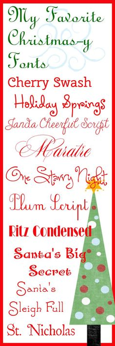 : My Favorite Christmas-y Fonts (Life Is A Trip Worth Taking)