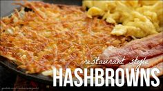 How to Make Hash Browns - Diner Style Restaurant Hashbrown Recipe - Easy Ethnic Recipes Homemade Hashbrown Recipes, Food Lab, Breakfast Potatoes, Potato Dishes, Food Videos, Food Print, Hash Browns, Food Processor Recipes, Breakfast Recipes