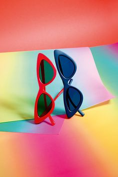 The Sunglasses Soon To Be Seen On Every It Girl #refinery29 http://www.refinery29.com/2015/02/81777/adam-selman-le-specs-sunglasses-collection#slide-11 Double trouble.