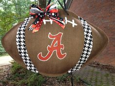 Bama Football with Houndstooth Fabric by PolkadotPenguinShop, $35.00