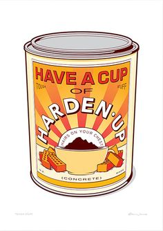 Have a Cup of Harden Up Wall Art  #wallart #nzart