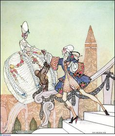 """Ah, Princess! - Surely you are not  running away from me?"" Illustration by Kay Nielsen."