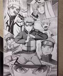 Naruto Evolution Drawing <3