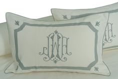 Leontine Linens | Etienne Custom Arch | King or Euro sham, 905.00 ea. | Standard sham, 875.00 ea.