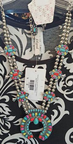 eaaefd07903c Multi Color Squash Buckle Necklace Set