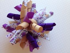 Peanut Butter and Jelly PB Large Korker Girls Hair Clip by PunkyPunkinCreations, $5.50
