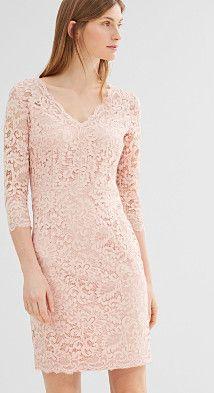 d212556b1 Esprit : Vestido de tubo en encaje floral en la Online-Shop Victoria, Kläder