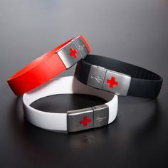 EPIC-id Trio $84.99 Indestructable USB Emergency IDs Can be updated to include new information as one travels or as medications change. A streamlined, impact- and waterproof bracelet with a USB port, it saves and stores all of your pertinent statistics so that if something happens, EMTs, firefighters and first responders have all the information they need. EPIC-ids are reliable, comprehensive and self-contained, making them the future of the med-ID market.