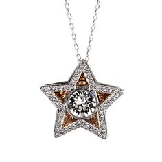 d9ceec9b9 Swarovski Golden Shadow & Clear Crystal Jewelry STAR Pendant CARRISSA Necklace  Rhodium #5133085. Swarovski JewelryCrystal JewelrySterling Silver ...