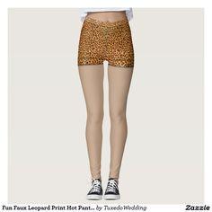Fun Faux Leopard Print Hot Pants Monogram Leggings. Halloween Costume idea?  #madebymds #fancydress #costumeparty #halloweencostume