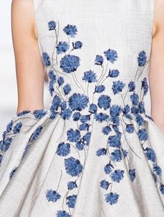 I Love Cornflowers. Detail, Look 13 from Giambattista Valli Fall 2013 Haute Couture collection. via Vogue