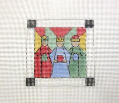 Stained Glass Three Wise Men  Handpainted by MarsyesNPCanvas