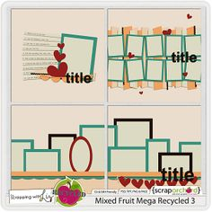 Great layouts Mixed Fruit Mega Recycled 3