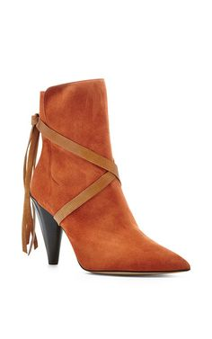 Nerys Suede Cross Tie Ankle Boots by Isabel Marant