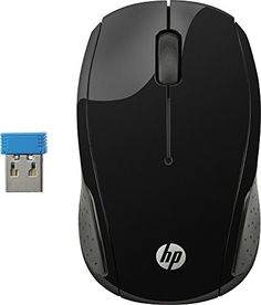 HP 200 Wireless Optical Mouse Black - Wireless Mouse - Ideas of Wireless Mouse The Used, Microsoft Windows, Hp Products, Cheap Mouse, Touch Screen Laptop, Led, Logitech, Ergonomic Mouse, Black