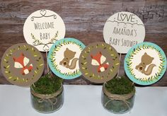 Woodland baby shower centerpieces woodland by MagicPartyDesigns