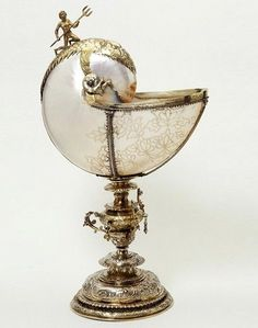 ancient-serpent: Nautilus cup, Netherlands, 1613-1614, V Museum