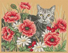 Maria Diaz Designs: AUTUMN CAT (Cross-stitch chart)