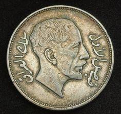 Iraq Coins - Riyal - 200 Fils Silver Coin , King Faisal I , mint year 1932