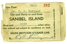 Ferry Pass-Kinzie Brothers Steamer Line--before the Causeway, we took the Ferry! Captiva Island, Little Island, Vintage Florida, Steamer, Line, Brother, Map, Islands, Printable