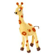 Giraffe Felt Holiday Ornament - Silk Road Bazaar (O)