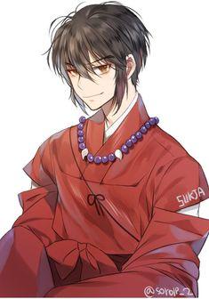 human Inuyasha (with short hair!):