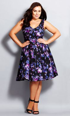 City Chic - JEWEL BLOOM DRESS - Women's Plus Size Fashion - City Chic Your Leading Plus Size Fashion Destination