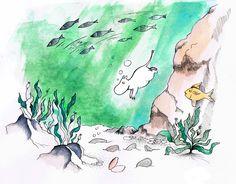 Moomintroll by Santa Monica #moomintroll #watercolor #bySantaMonica
