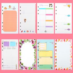 40 sheet/pack A6 A5 Colorful Refills Spiral Notebook Inner Pages 6 holes Loose Leaf Diario Binder Paper Planner Filler Paper-in Notebooks from Office & School Supplies on Aliexpress.com | Alibaba Group