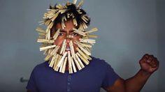 100 clothespins face