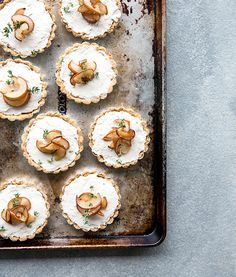 Pear + thyme tarts