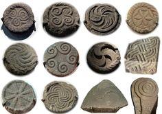 Iron Age - Selection of stone carvings from the Castro de Santa Trega