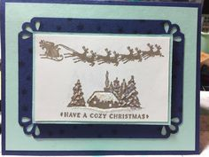 """Stampin Up """"Cozy Christmas"""""""