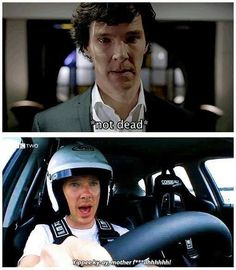 #Sherlock #BenedictCumberbatch hahaha I lost it when he said that during his lap on Top Gear