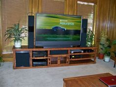 65 inch big screen tv tower speakers sub woofer center speaker stereo recei Black Entertainment Centers, Electric Fireplace Entertainment Center, Old Screen Doors, Big Screen Tv, Big Lots Electric Fireplace, Tower Speakers, Screened In Porch, Woodworking Plans, Woodworking Chisels