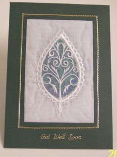 Cards - Get Well Soon - Lace Leaf £2.75