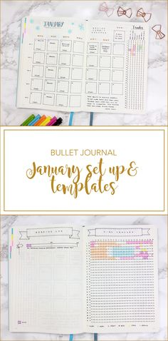 Bullet journal January Set Up & template
