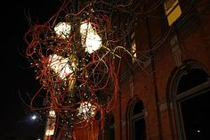 The Castor lighting installation fed outside of the room and into the street. CTUMR 2007