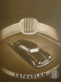 TATRA (1948) | René Vallente | Flickr Car Illustration, My Favorite Color, Illustrations Posters, Techno, Vintage Cars, Race Cars, Motorcycles, Chrome, Advertising