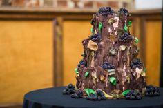 Twilight Wood Wedding Nature Cake - Sam Haddix Photography
