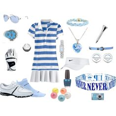 Blue Golf Outfit, created by preppedandready.polyvore.com