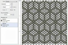 Beading: Peyote Stitch Pattern 9 (Tumbling Blocks)