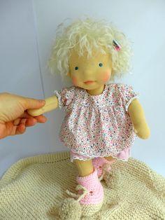 Baby doll-natural fiber doll by Dearlittledoll
