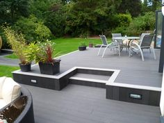 Deck and Patio Combo . Deck and Patio Combo . Deck and Patio Bo Small Backyard Decks, Modern Backyard, Backyard Patio, Small Patio, Modern Deck, Patio Deck Designs, Patio Design, Patio Ideas, Garden Ideas