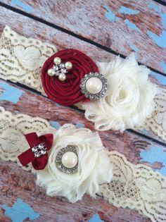 wedding garter / WINE / bridal  garter/  by FallenStarCoutureInc, $24.99
