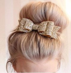 Gemini_mall® Girls Boutique Hair Clips Barrettes Hair Accessories Glitter Hair Bows Hair Pins for Girls Teens - Rose Gold: Beauty Trending Hairstyles, Braided Hairstyles, Hairstyles 2018, African Hairstyles, Braided Updo, Pretty Hairstyles, Hair Accessories For Women, Bow Accessories, Girls Bows