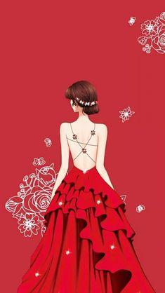 Chibi Manga, Lovely Girl Image, Cute Girl Wallpaper, Dress Drawing, Digital Art Girl, Beautiful Anime Girl, Fashion Art, Fashion Design, Illustration Girl